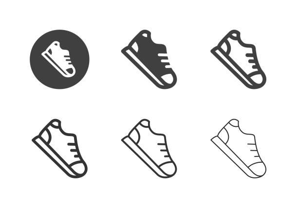 Sneaker Icons - Multi Series vector art illustration