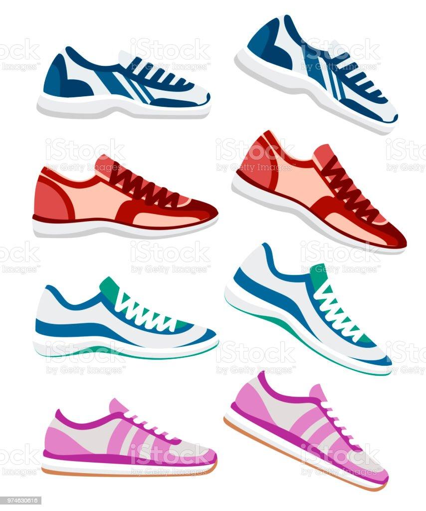 best loved 8c237 8742f Sneaker Schuh Sportliche Sneakers Vektorillustration ...