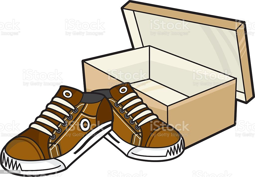 Sneakers and Shoe Box royalty-free stock vector art  sc 1 st  iStock & Sneakers And Shoe Box stock vector art 491563860 | iStock Aboutintivar.Com