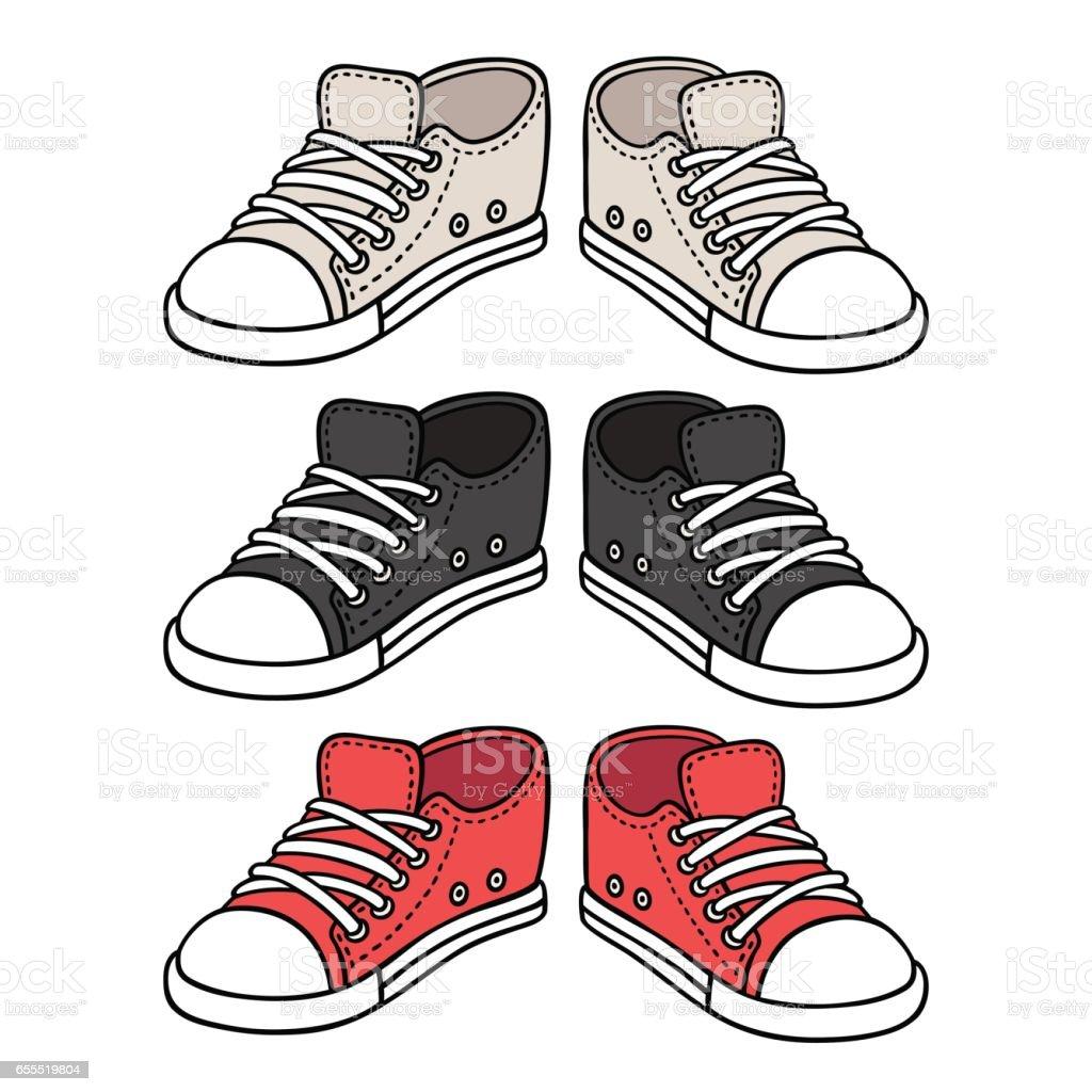 royalty free canvas shoe clip art vector images