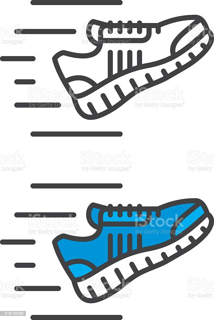 Sneakers Icon vector art illustration