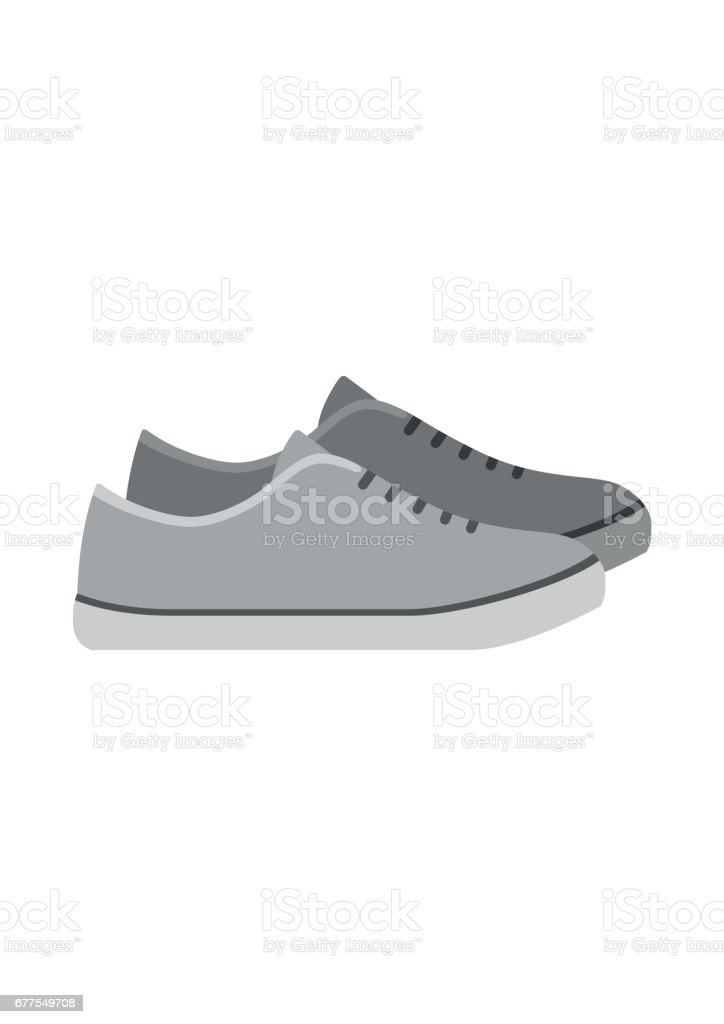 Sneakers, loafers shoes isolated on white background. footwear for sport and casual look royalty-free sneakers loafers shoes isolated on white background footwear for sport and casual look stock vector art & more images of adult