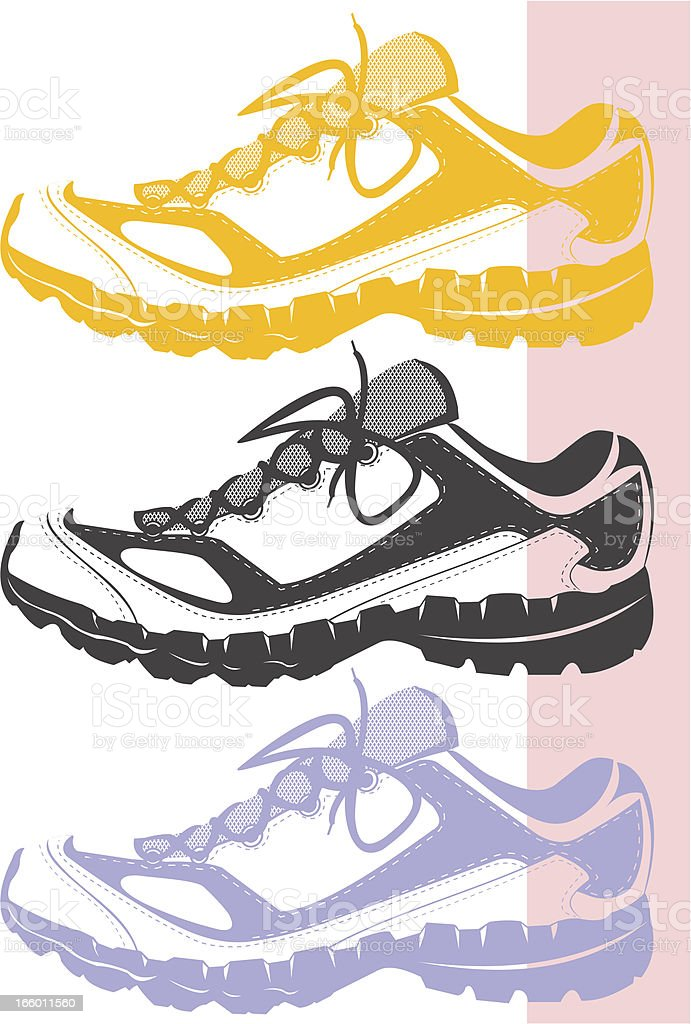 Sneakers stencil vector art illustration