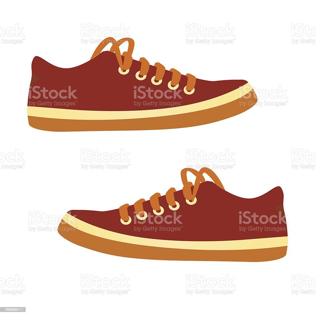 sneakers. Vector cartoon. vector art illustration