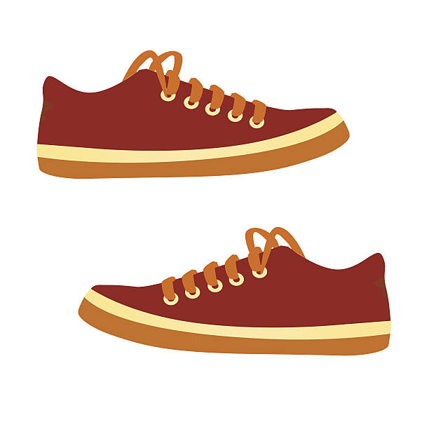 sneakers.  vektor-comic. - eleganter schuh stock-grafiken, -clipart, -cartoons und -symbole