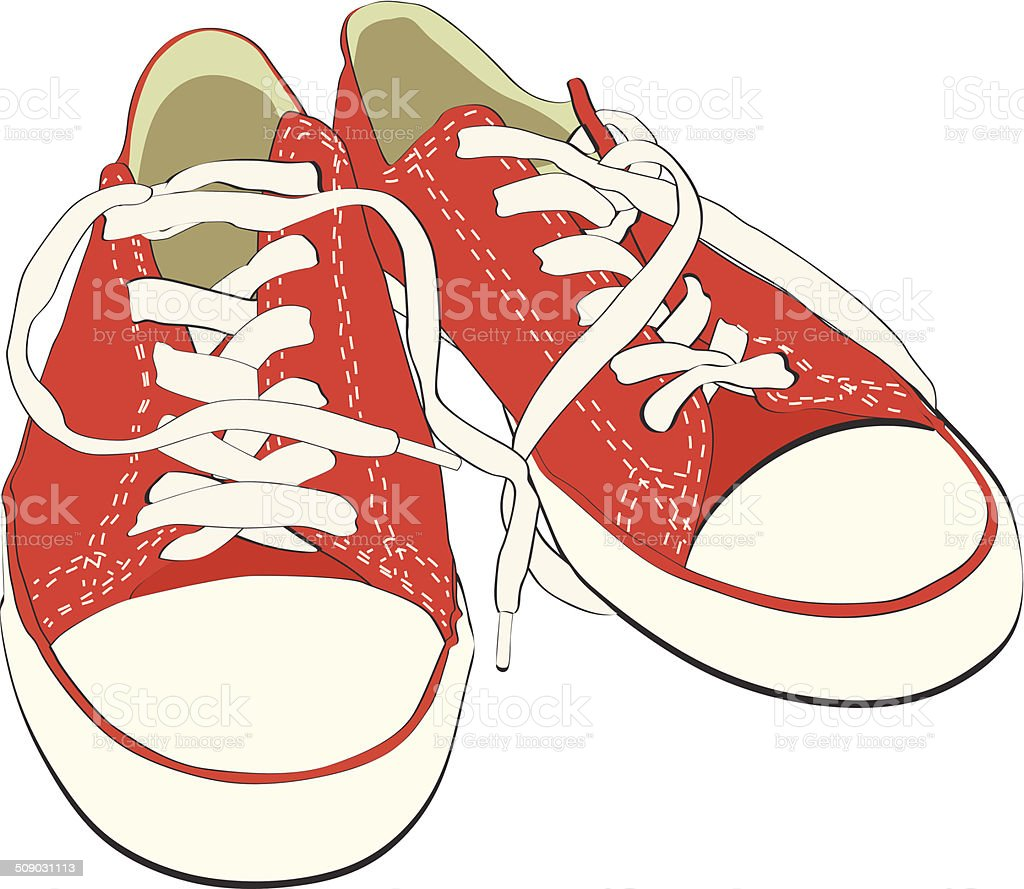 Sneakers vector art illustration