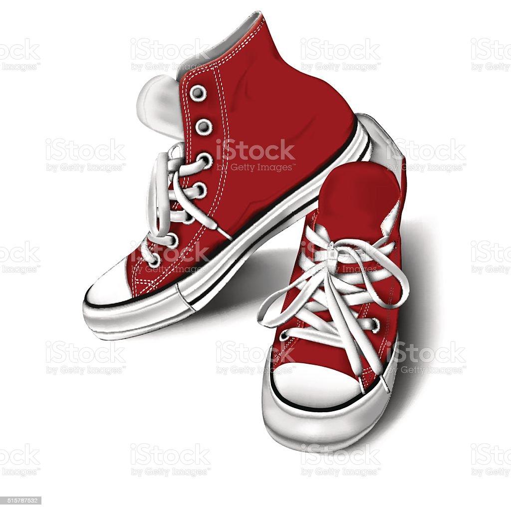 sneakers vector art illustration