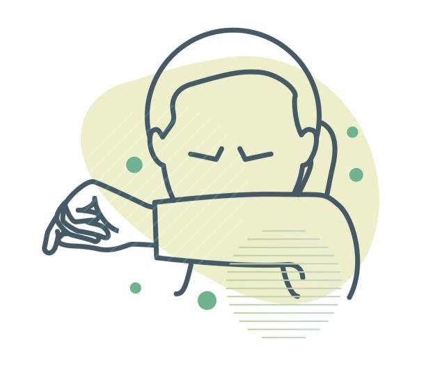 bildbanksillustrationer, clip art samt tecknat material och ikoner med nysning - vanlig förkylning och influensa - ikon - sneezing