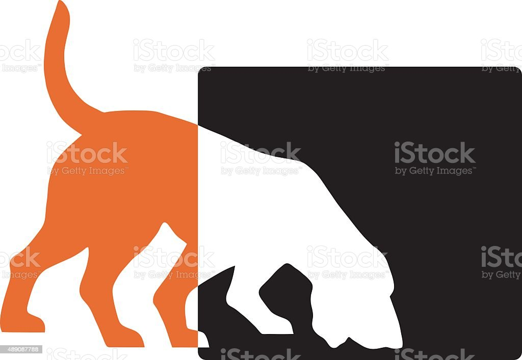 Sniffer Dog vector art illustration