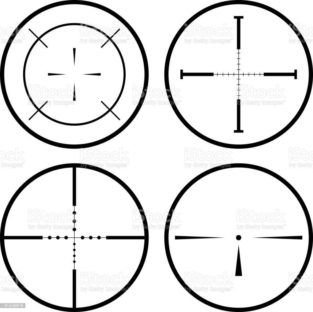 Sniper scope vector art illustration