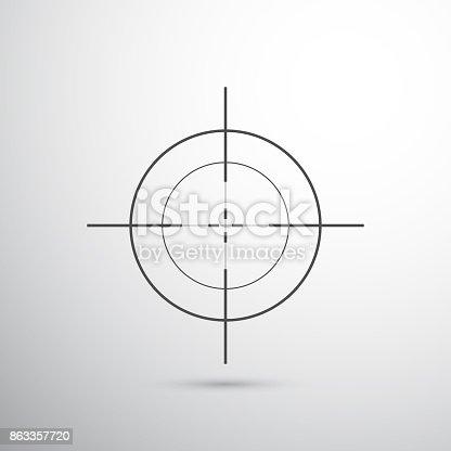 dark grey target for shooting