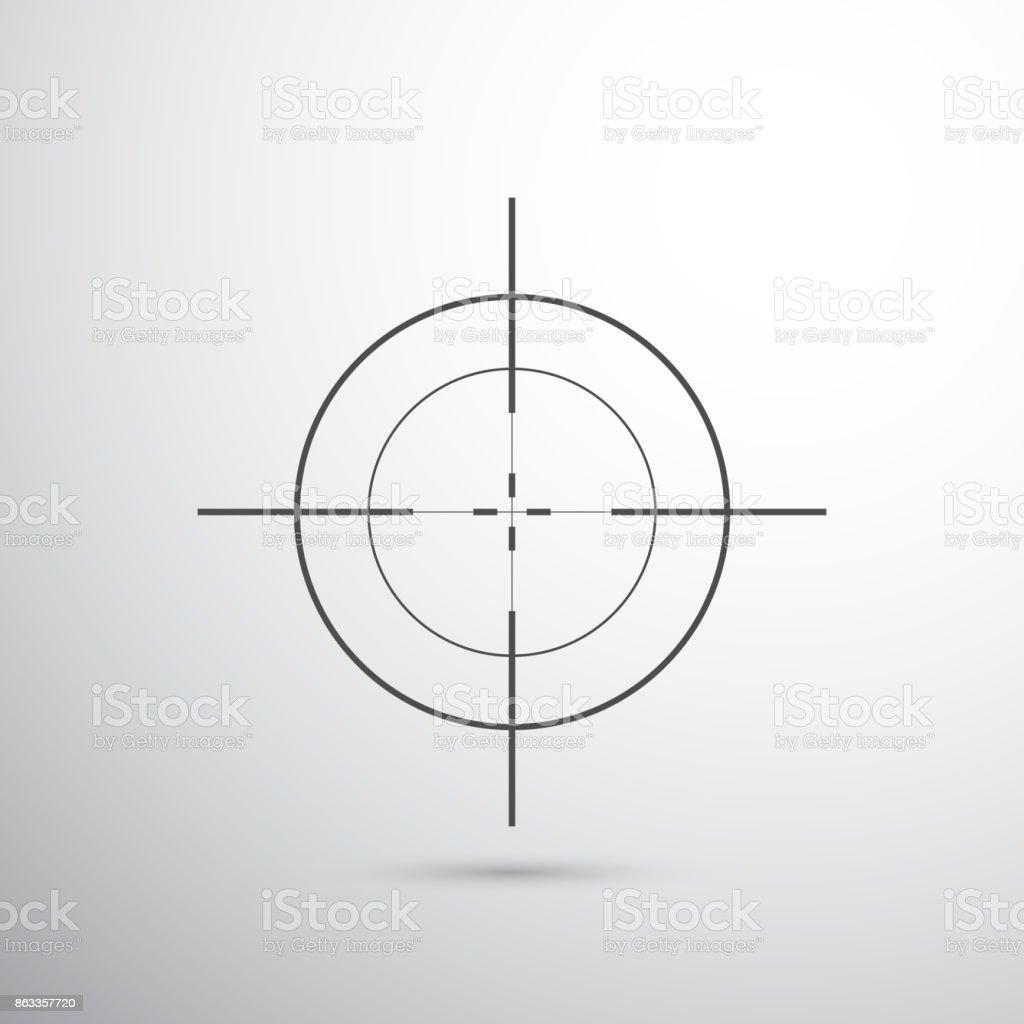 objetivo del francotirador - ilustración de arte vectorial