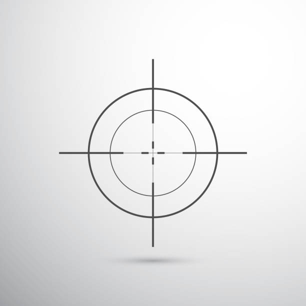 sniper target dark grey target for shooting gun stock illustrations