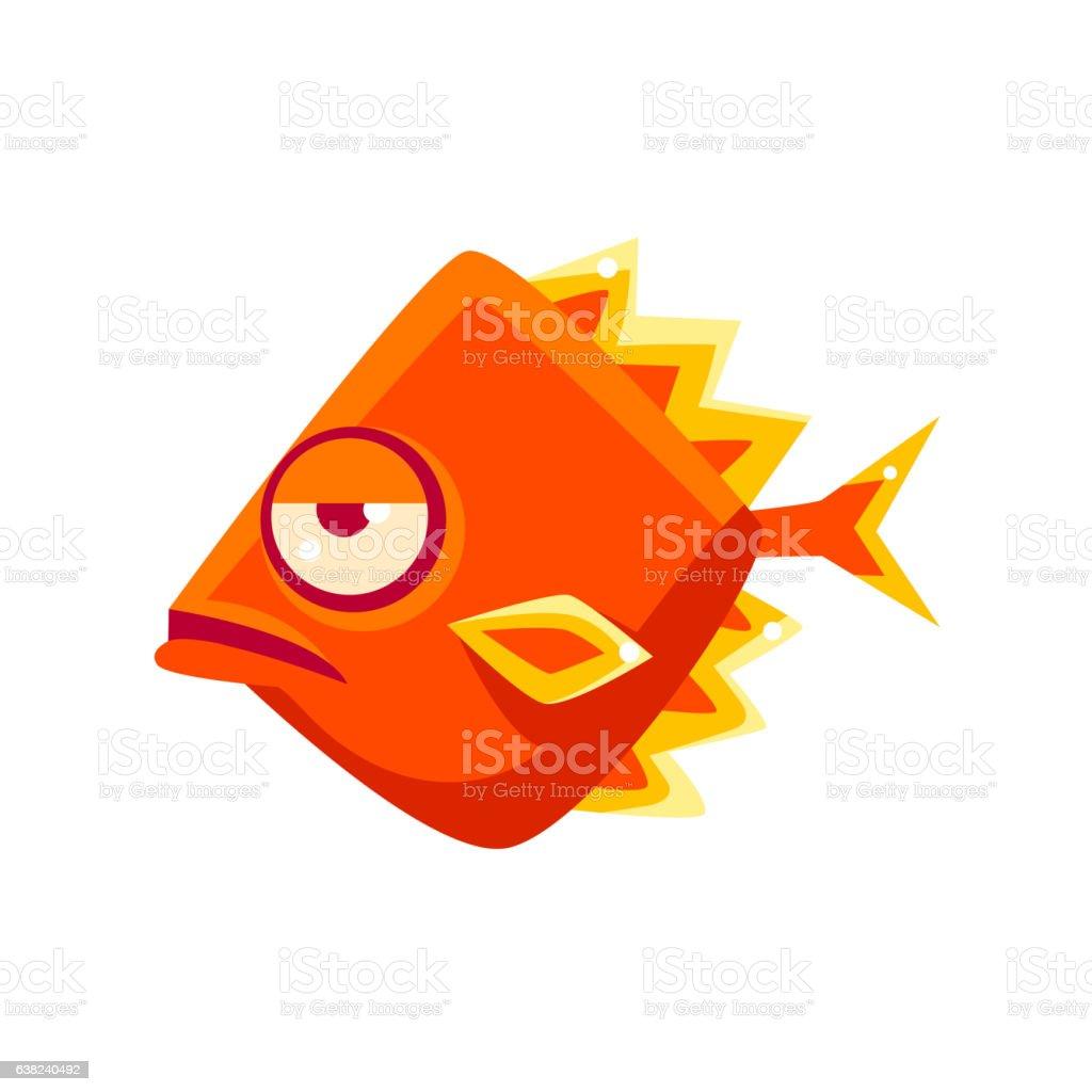 Snobbish Orange Diamon Shaped Fantastic Aquarium Tropical Fish ...