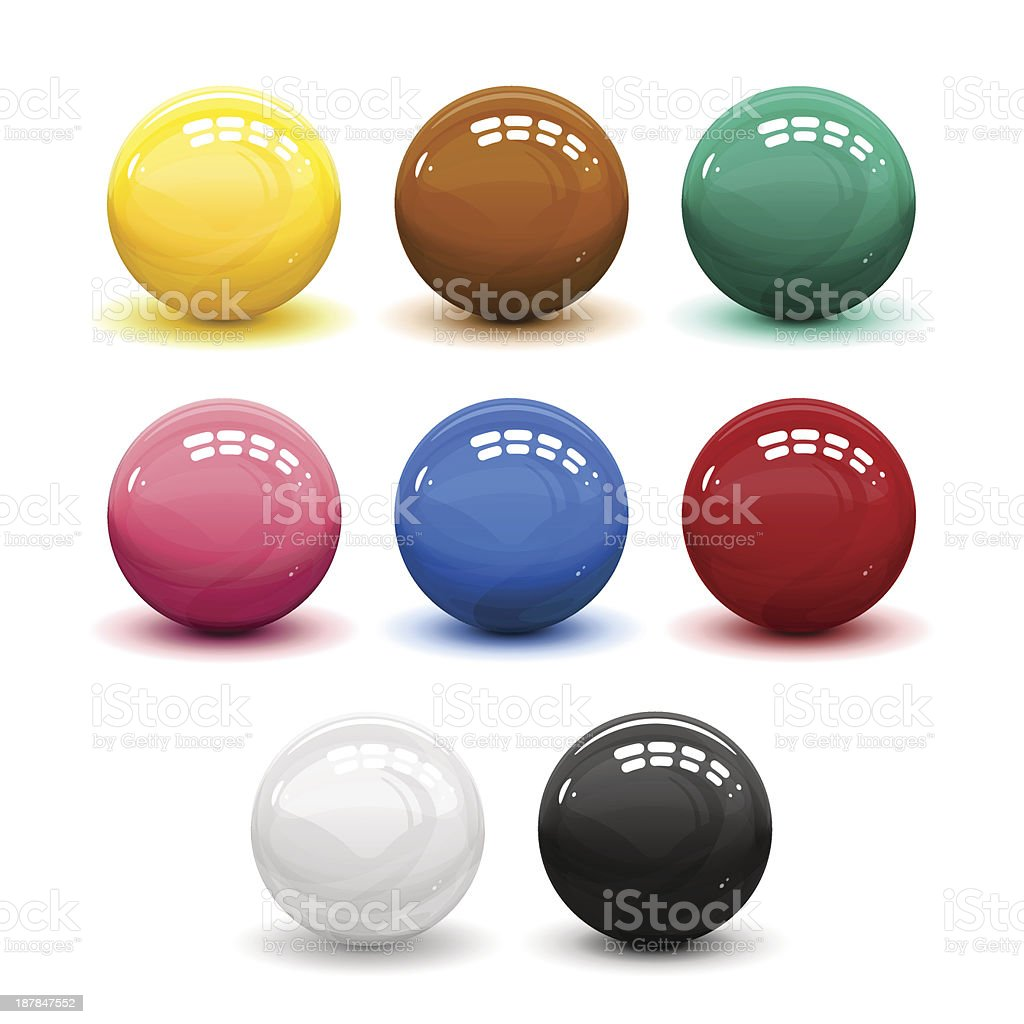 Snooker balls royalty-free stock vector art