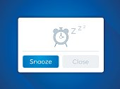 Snooze alarm clock template concept with space for your copy.