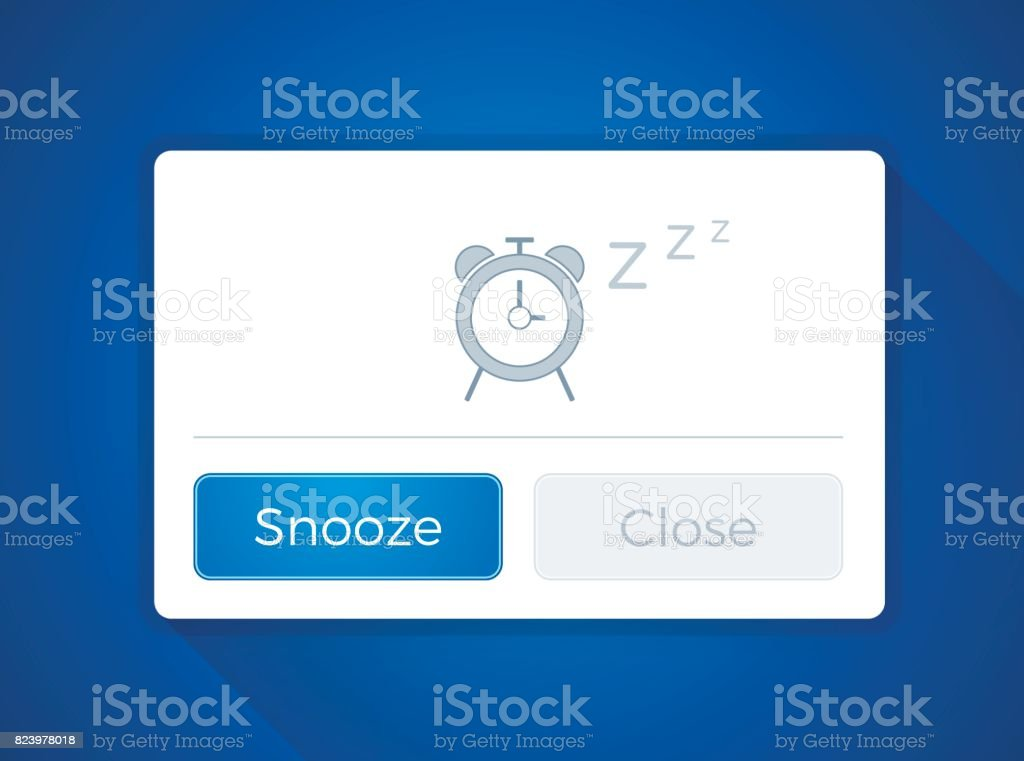 Snooze Alarm Clock Window vector art illustration