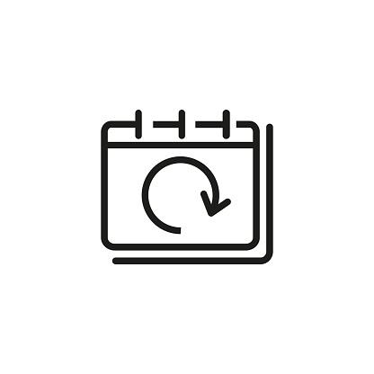 Snooze notification line icon