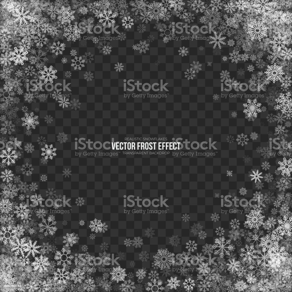 Snow 3D Vector Frost Effect vector art illustration
