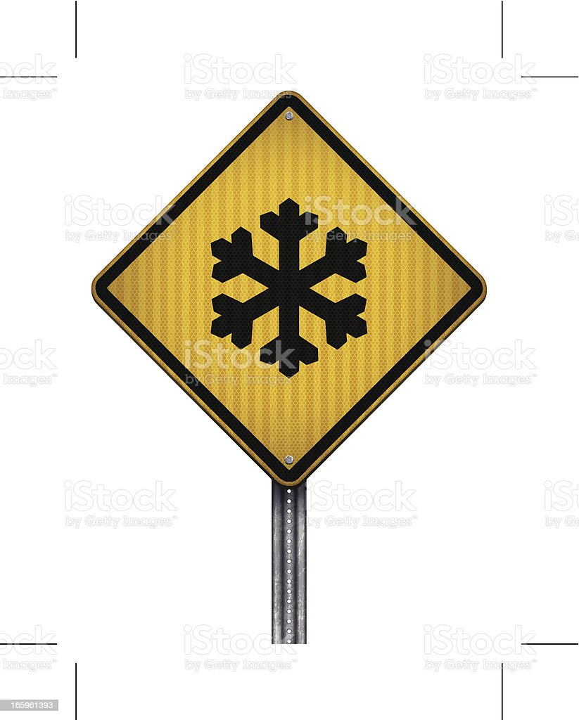 snow ahead road sign royalty-free snow ahead road sign stock vector art & more images of black color