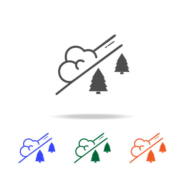 snow avalanche icon. Elements of Christmas holidays in multi colored icons. Premium quality graphic design icon. Simple icon for websites, web design, mobile app snow avalanche icon. Elements of Christmas holidays in multi colored icons. Premium quality graphic design icon. Simple icon for websites, web design, mobile app on white background avalanche stock illustrations