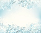 Snow background - layered illustration. Gradient mesh used.
