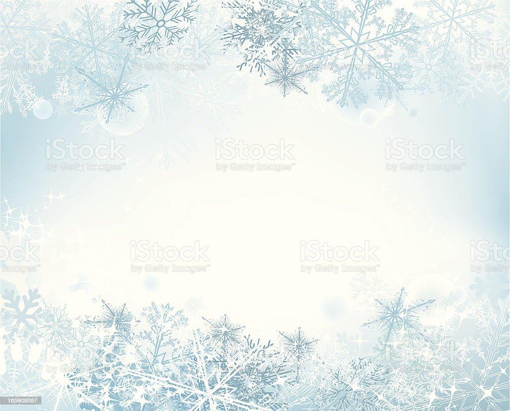 Snow background vector art illustration