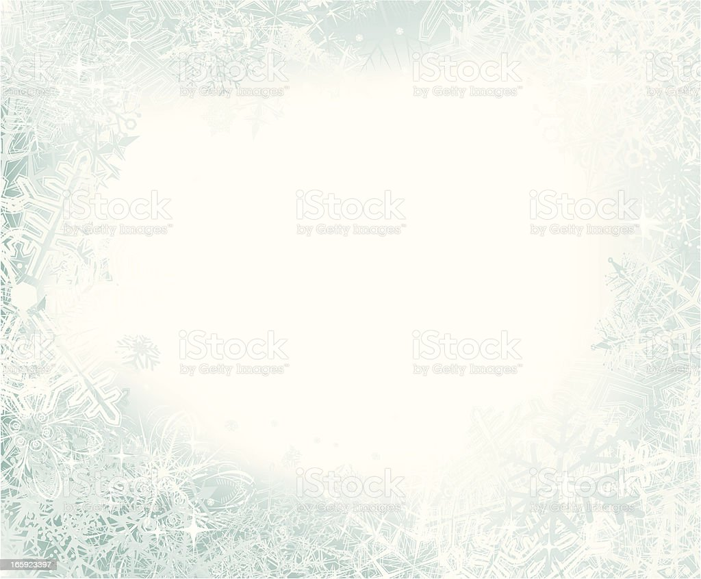 Snow Background vector art illustration
