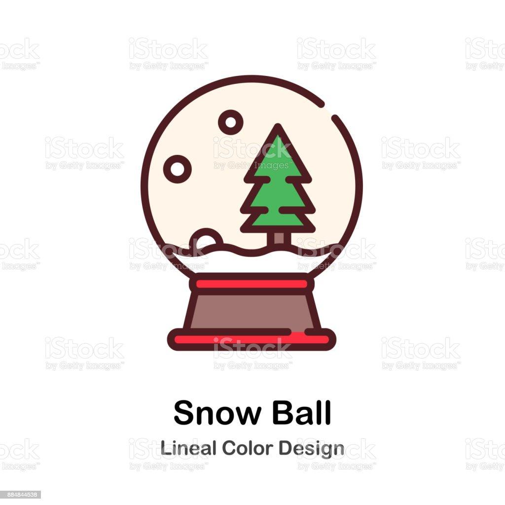 Snow Ball Lineal Color Illustration vector art illustration