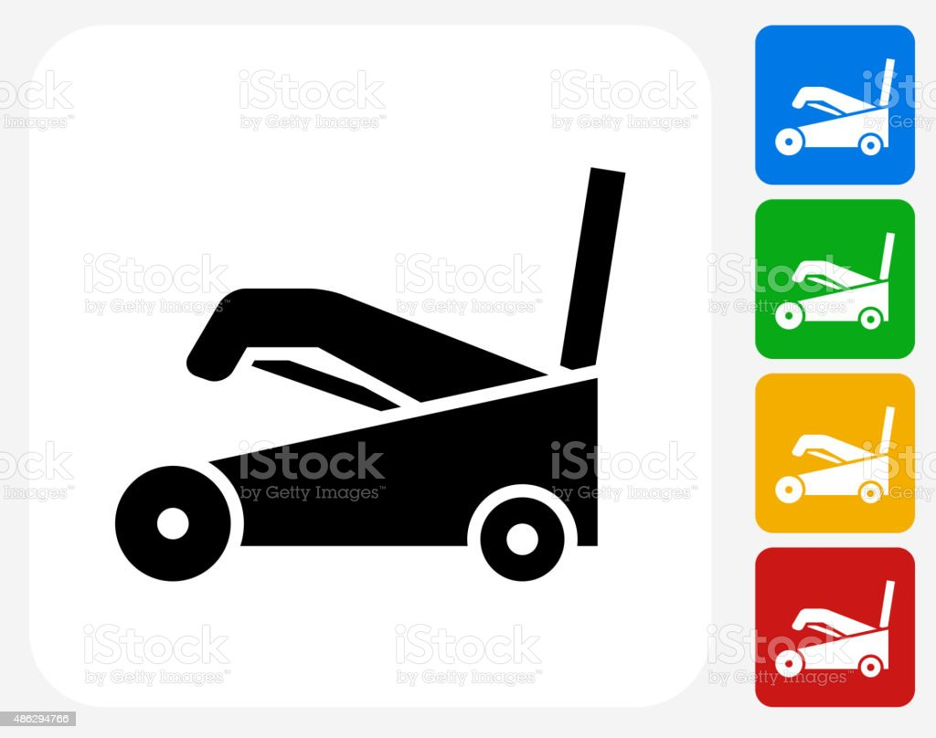 Snow Blower Icon Flat Graphic Design vector art illustration
