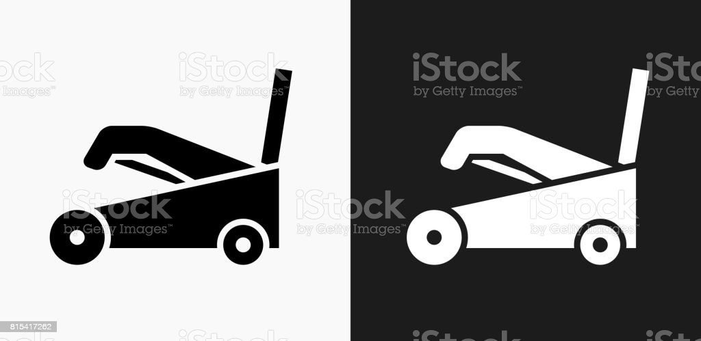 Snow Blower Icon on Black and White Vector Backgrounds vector art illustration