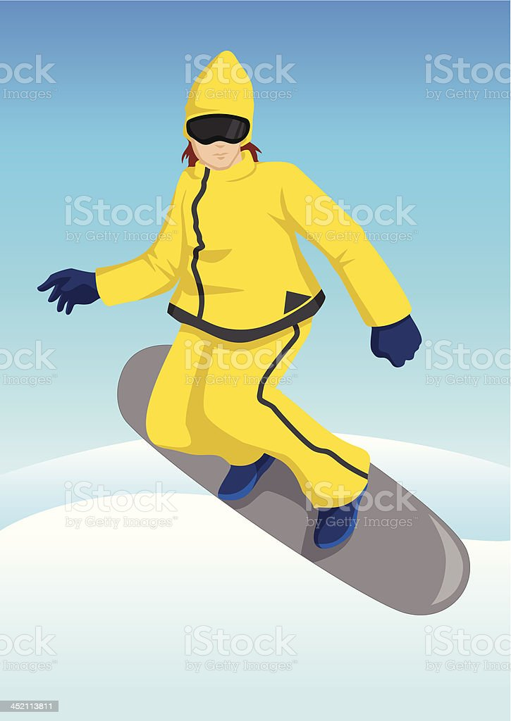 Snow Boarding royalty-free snow boarding stock vector art & more images of activity
