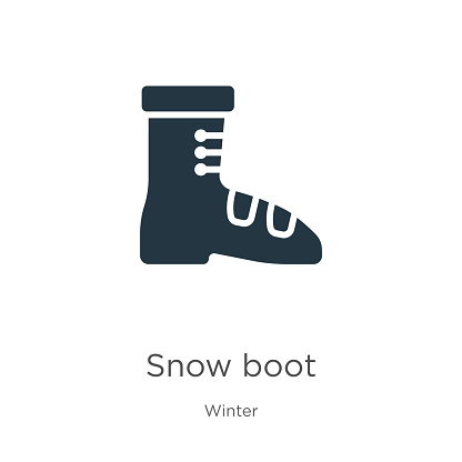 Snow boot icon vector. Trendy flat snow boot icon from winter collection isolated on white background. Vector illustration can be used for web and mobile graphic design, logo, eps10