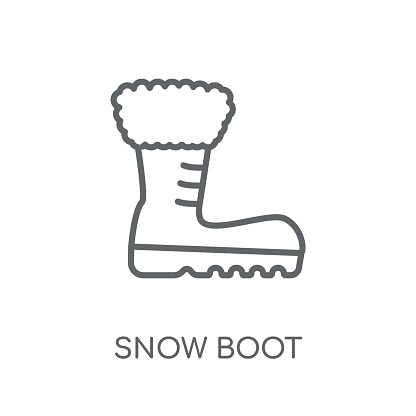 Snow Boot linear icon. Modern outline Snow Boot logo concept on white background from Winter collection