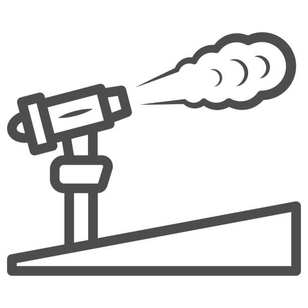 kar topu çizgi simgesi, dünya kar günü konsepti, kayak merkezi ve beyaz arka plan üzerinde ekipman sembolü, mobil konsept ve web tasarımı için anahat tarzıkar makine simgesi. vektör grafikleri. - mountain top stock illustrations