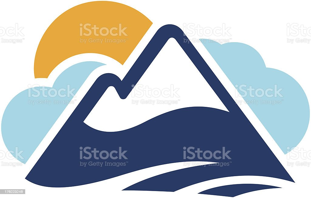 Snow Capped Mountain Icon royalty-free stock vector art