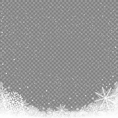 snow corner background transparent