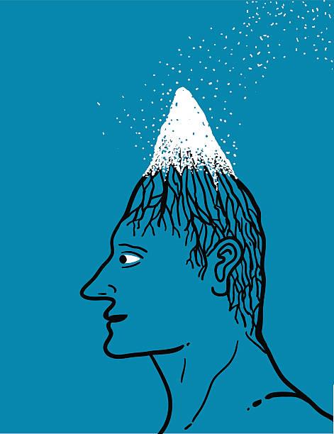 schneebedeckte peaky head - langhaarspitzen stock-grafiken, -clipart, -cartoons und -symbole