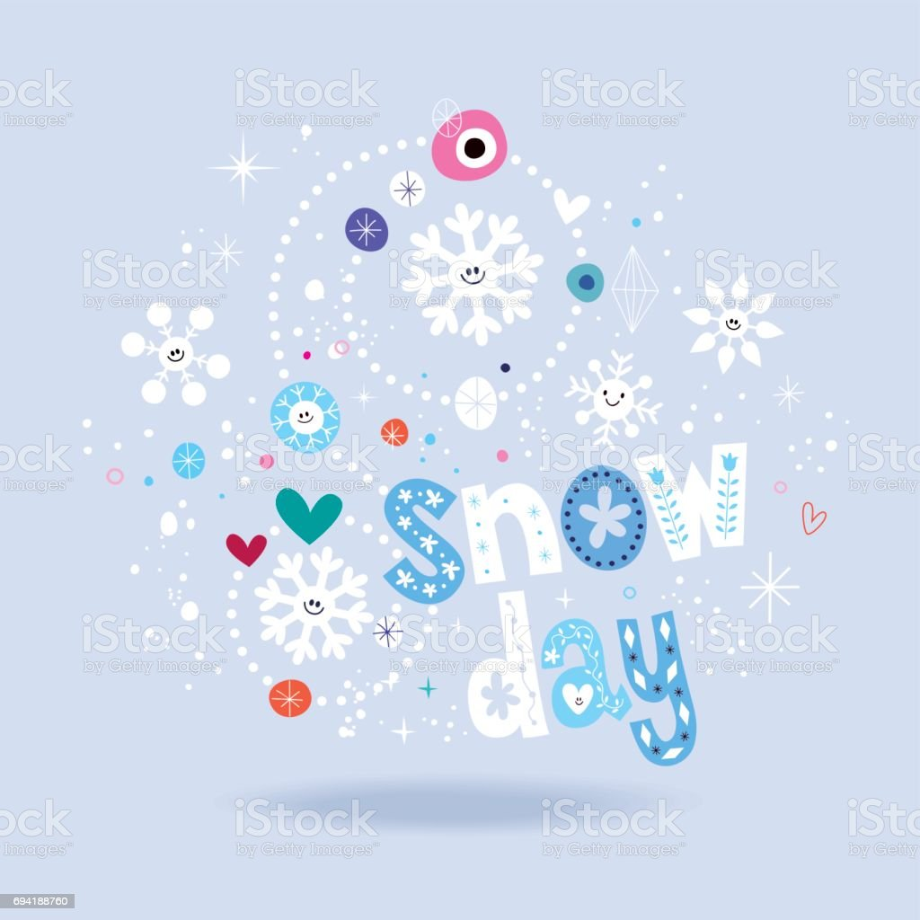 Snow Day Stock Vector Art More Images Of Blue 694188760 Istock