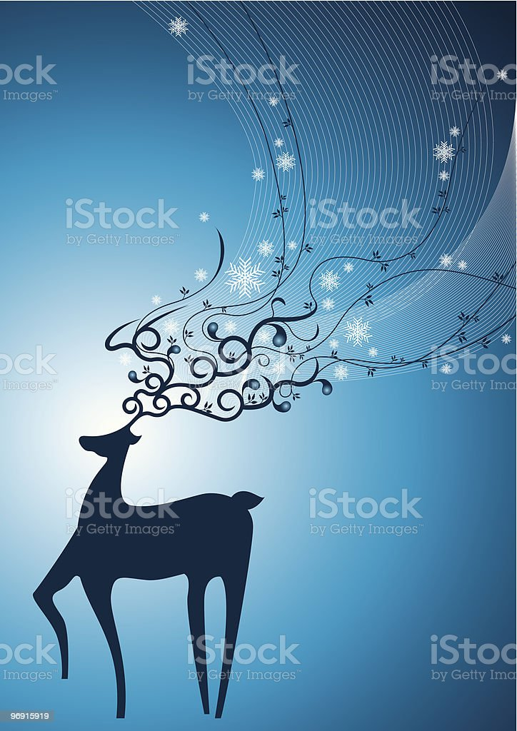 Snow Deer royalty-free snow deer stock vector art & more images of abstract
