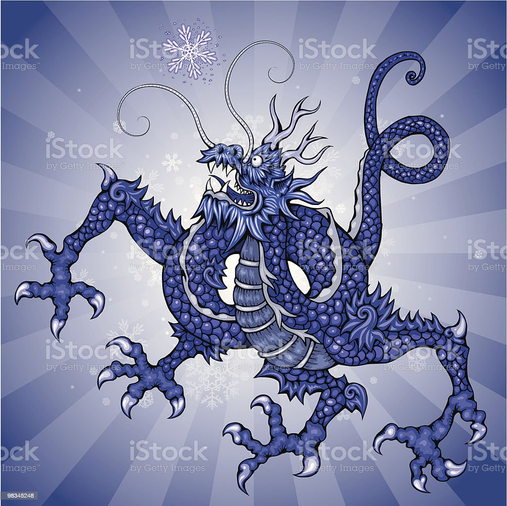 Snow Dragon royalty-free snow dragon stock vector art & more images of animal