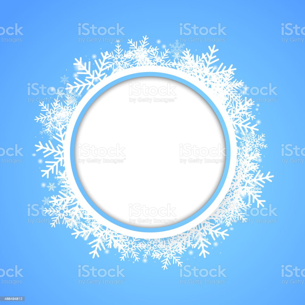 Snow fall. Holiday winter theme background. vector art illustration