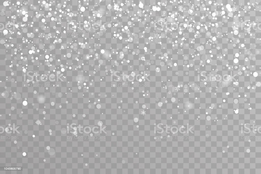 snow falling winter snowflakes christmas new year design elements
