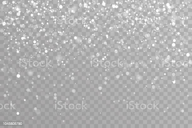 Снег Падения Зимних Снежинок Рождество Новый Год Элементы Дизайна Шаблон Вектор Иллюстрации — стоковая векторная графика и другие изображения на тему Абстрактный