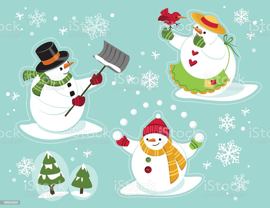 Snow Family royalty-free snow family stock vector art & more images of apron