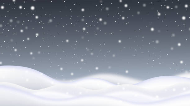 Snow field with snowfall Isolated Snow field with snowfall for decoration. Concept of Merry Christmas and Happy New Year. stock illustration snowdrift stock illustrations