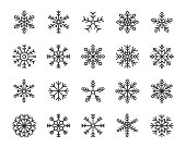 snow flake icons set