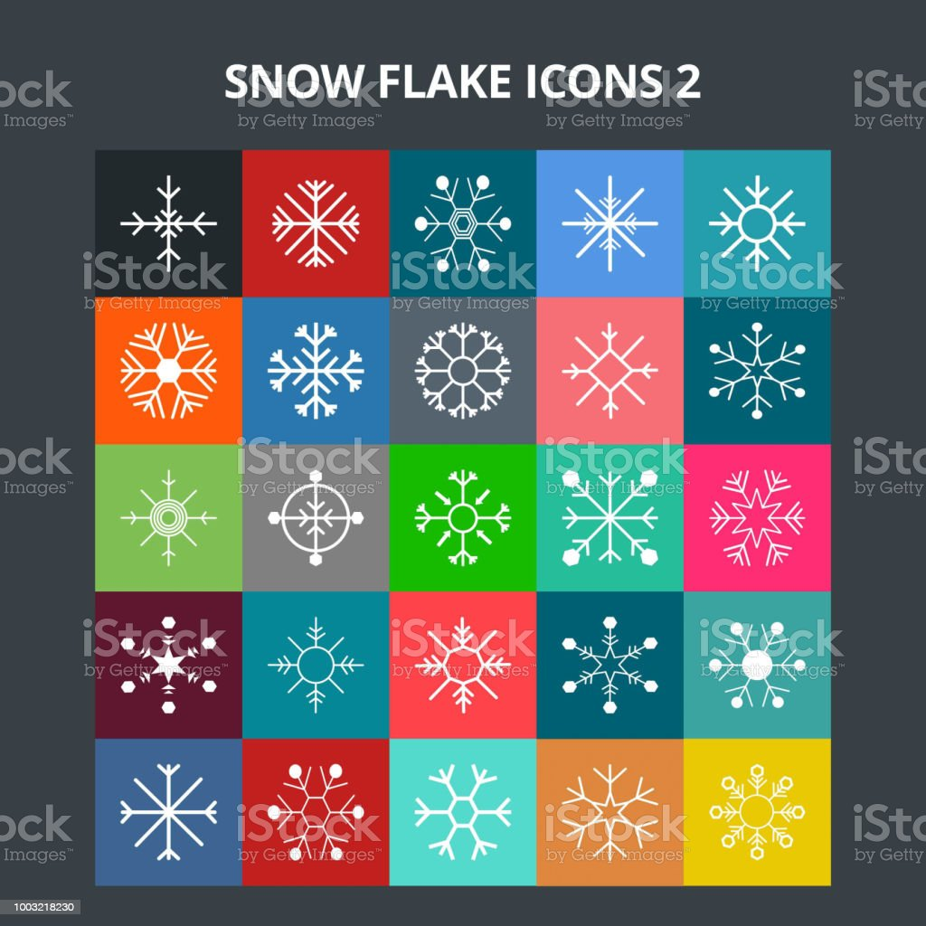 Snow Flake Icons vector art illustration