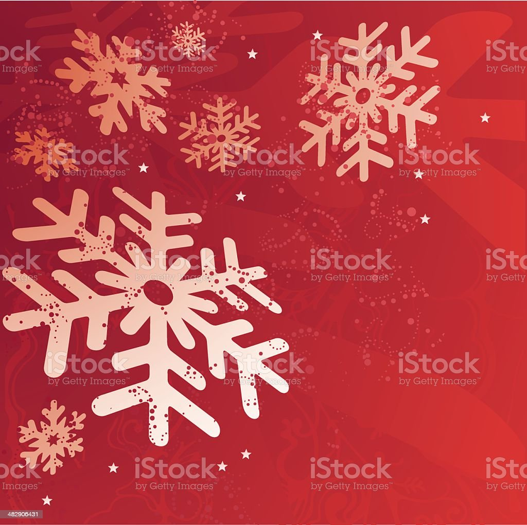 Snow Flakes Background royalty-free stock vector art