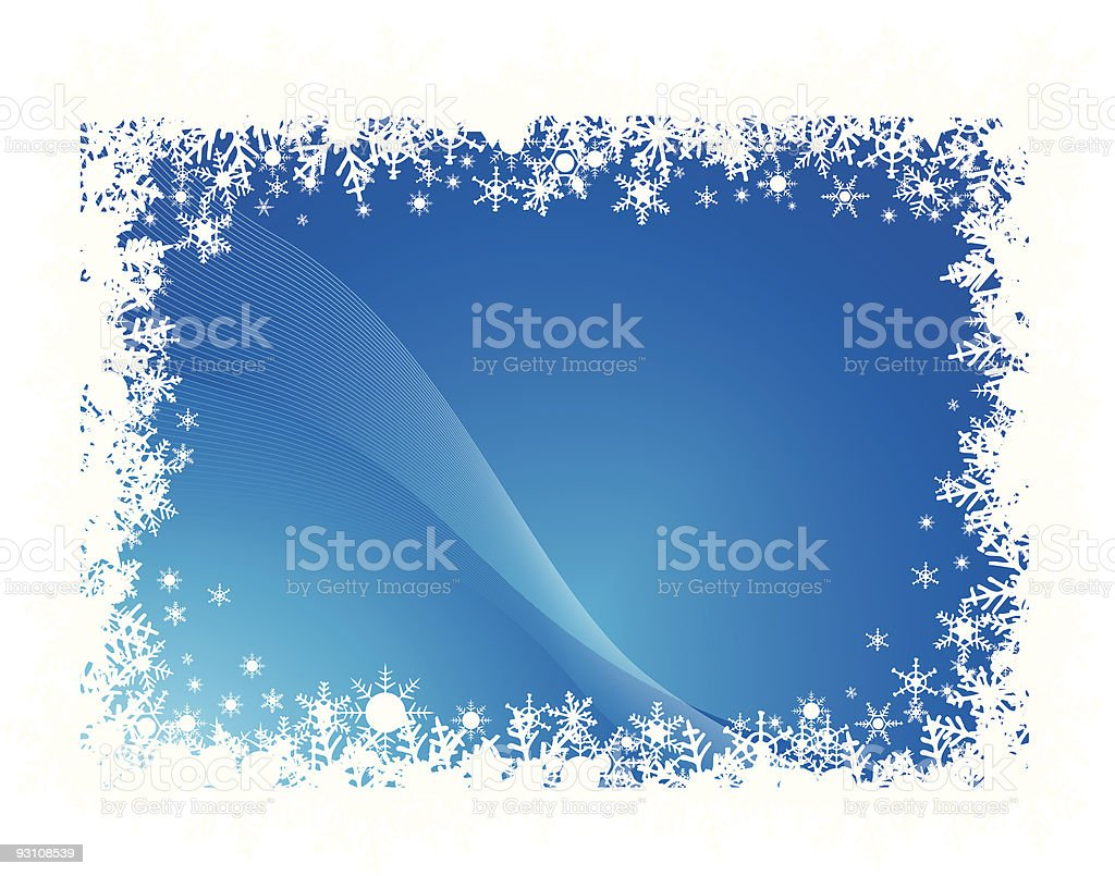 snow flakes holiday background royalty-free stock vector art